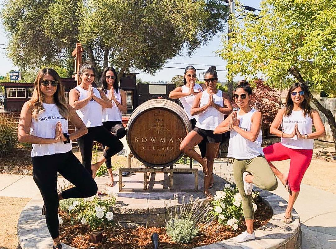 Yoga Sunday at Bowman Cellars